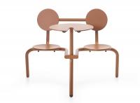 extremis® Bistroo Bistro-Stuhl-Tisch-Kombination kupferbraun