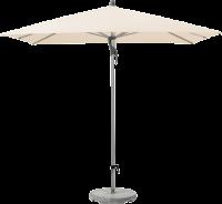 Glatz AG Sonnenschirm FORTINO® rechteckig, 55 kg Betonsockel, Standrohr Edelstahl