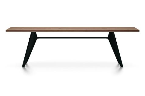Vitra Prouve EM Table Esstisch Amerikanischer Nussbaum massiv geoelt 260 cm UG: tiefschwarz