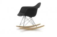 Vitra Eames Plastic Armchair RAR Schaukelstuhl schwarz UG: chrom Fuss: Ahorn gelblich