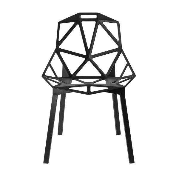 Magis Design Chair One Aluminium-Stapelstuhl eloxiert schwarz