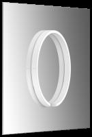 Occhio Mito Sfera Su 40 Wide Spiegelleuchte zur Spiegelmontage weiß matt