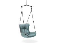 Freifrau Manufaktur Leya Wingback Swingseat Schwingsessel Stoff Spritz Acquamarina