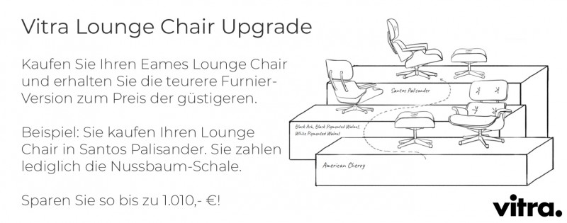 Vitra Eames Lounge Chair Weihnachtaktion Upgrade