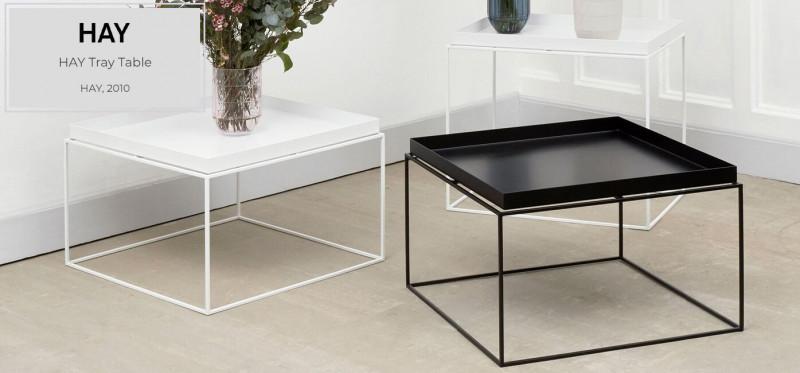 Hay Tray Table Beistelltisch mit Tablett aus Metall minimalistisch