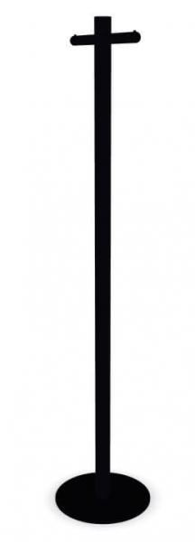 Cascando Pole Garderobenst?nder Stahl, pulverbeschichtet schwarz