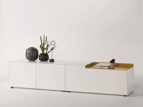 Piure NEX BOX Sideboard 240 x 48 x 52,5 weiss matt