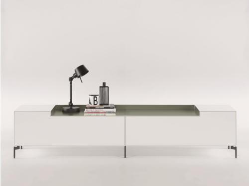 Piure NEX BOX TV-Möbel 240 x 48 x 50,5 weiss matt