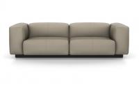 Vitra Soft Modular Sofa Zweisitzer Leder sand