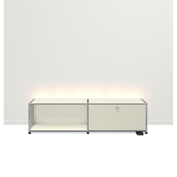 USM Haller E TV/Hi-Fi-M?bel mit dimmbarem Licht lichtgrau