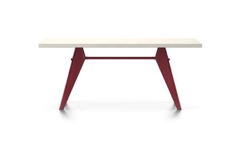 Vitra Prouve EM Table Esstisch HPL 180 cm elfenbein/japanese-red