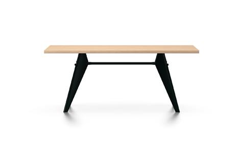 Vitra Prouve EM Table Esstisch Furnier Eiche natur 180 cm natur/tiefschwarz