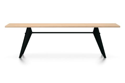 Vitra Prouve EM Table Esstisch Furnier Eiche natur 260 cm natur/tiefschwarz