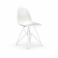 Vitra Eames Plastic Side Chair DSR (neue Höhe) weiss UG: weiss, pulverbeschichtet