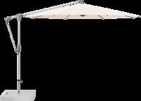 Glatz AG Sonnenschirm SUNWING® Casa Ø 300 cm - 330 cm, 90 kg Rollensockel Beton, Standrohr Edelstahl