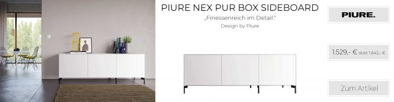 Piure NEX PUR BOX Sideboard 180 x 63 x 48 cm weiss matt