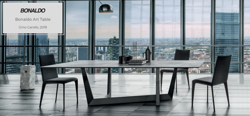 Bonaldo Art Table Esstisch mit Marmorplatte