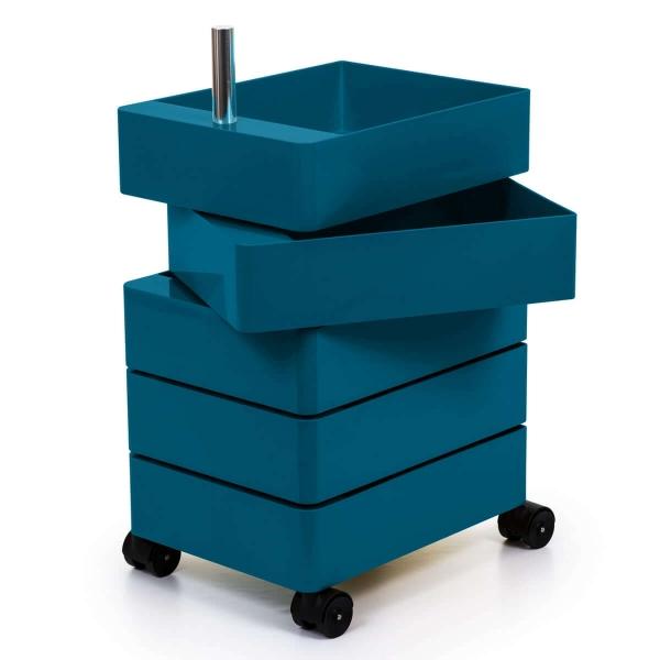 Magis Design 360° Rollcontainer 5 Fächer blau