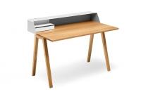 Mueller Moebelfabrikation PS05 Schreibtisch  Sekretaer mit Schubladenbox Eiche massiv geoelt