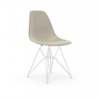Vitra Eames Plastic Side Chair DSR (neue Höhe) kieselstein UG: weiss, pulverbeschichtet