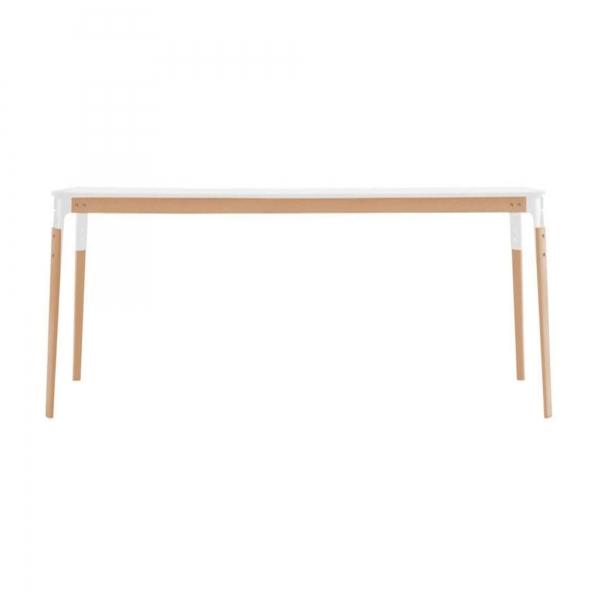 Magis Design Steelwood Esstisch 180 x 90 cm Buche natur weiss