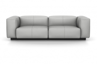 Vitra Soft Modular Sofa Zweisitzer Leder zement