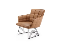 Freifrau Manufaktur Marla Easy Chair Low Loungesessel m. Harfengestell Leder Opium Whisky