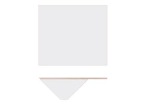 Nils Holger Moormann Bildschirmplatte für Kant Schreibtisch weiß