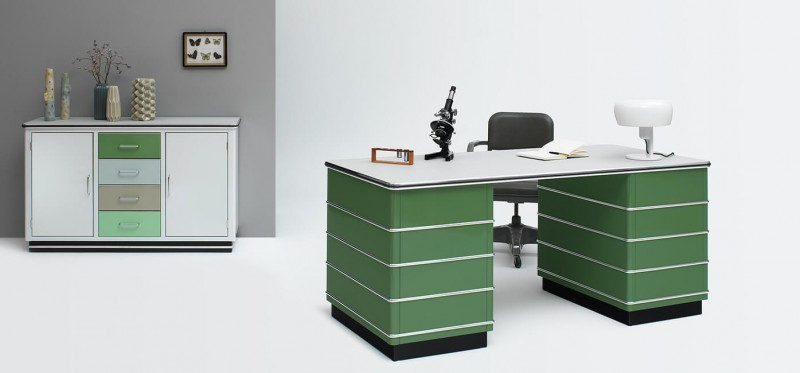Müller Möbelfabrikation Classic Line Schreibtisch mit Sideboard