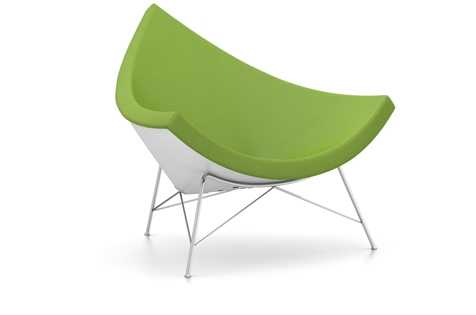 Vitra Coconut Chair Sessel Hopsak (Stoff) wiesengruen/forest