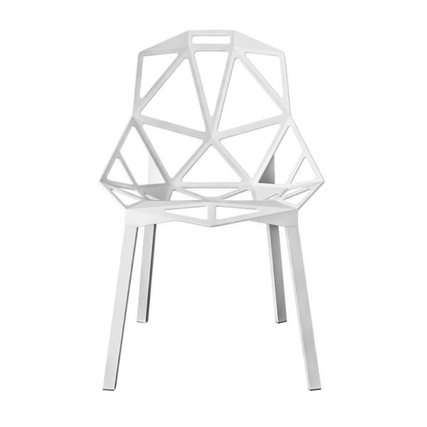 Magis Design Chair One Aluminium-Stapelstuhl eloxiert weiss