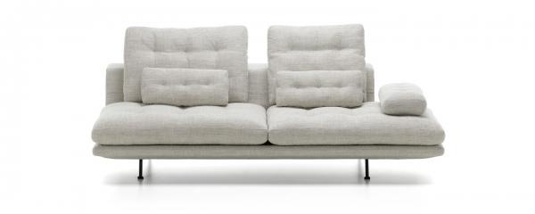 Vitra Grand Sofa 3-Sitzer Stoff inkl. Nacken- & Armlehnkissen