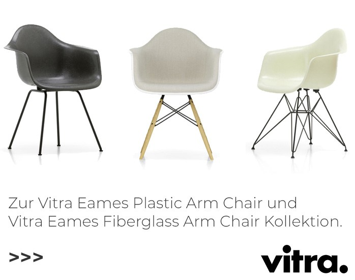 Vitra Eames Plastic Armchair und Fiberglass Chair Kollektion