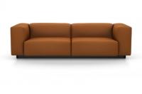 Vitra Soft Modular Sofa Zweisitzer Stoff Iroko 2 cognac