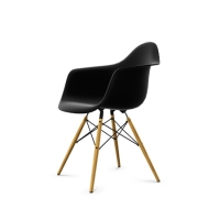 Vitra Eames Plastic Arm Chair DAW (neue Höhe) basic dark