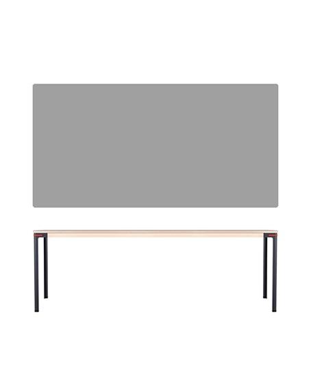 Nils Holger Moormann Esstisch Seiltänzer B 220 cm Linoleum grau