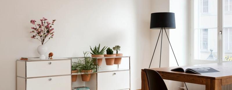 USM Haller Pflanzenwelten-Sideboard-im-Wohnbereich