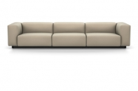 Vitra Soft Modular Sofa Dreisitzer Stoff Iroko 2 sand