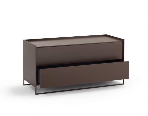 Möller Design LEAN BOX K1202S Kommode mit 2 Schubkästen Lack matt