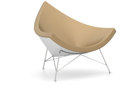 Vitra Coconut Chair Sessel Leder PREMIUM ocker