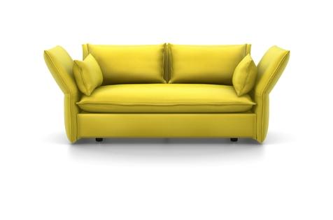 Vitra Mariposa Sofa Zweisitzer Stoff Iroko 2 limone