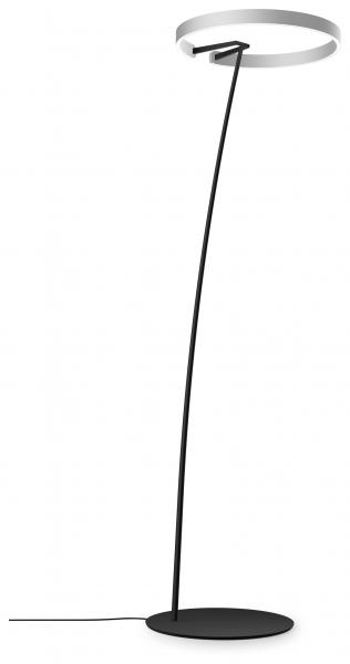 Occhio Mito Raggio 60 Wide Air-Steuerung Stehleuchte silber matt
