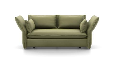 Vitra Mariposa Sofa Zweisitzer Stoff Iroko 2 olive