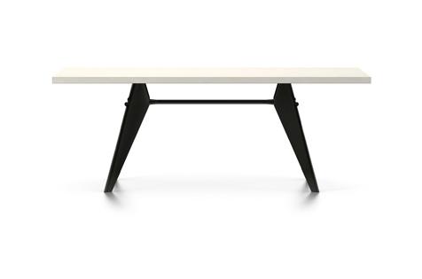 Vitra Prouve EM Table Esstisch HPL 200 cm elfenbein/tiefschwarz