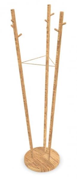 Cascando Twist Down Bambus Garderobenst?nder hellbraun