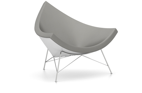 Vitra Coconut Chair Sessel Leder dimgrey