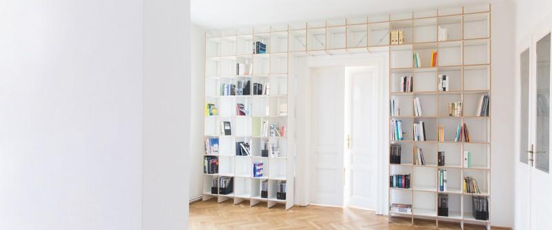 Nils Holger Moormann FNP Regal Überbau Türe Regalsystem erweiterbar