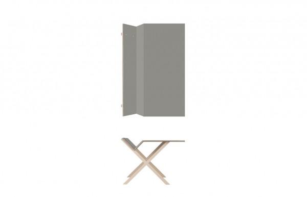 Nils Holger Moormann Schreibtisch Kant Linoleum grau B 160 cm