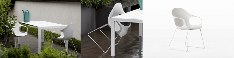Kristalia Elephant Base Outdoor Stuhl