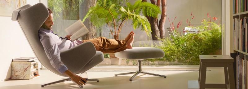 Vitra Grand Repos Mello zement Ruhesessel Relaxsessel